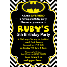 A6 Party Invites - Single or Double Sided