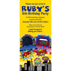 DL Party Invites Single or Double Sided