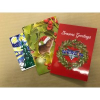 200 x Personalised Greeting Cards with envelopes