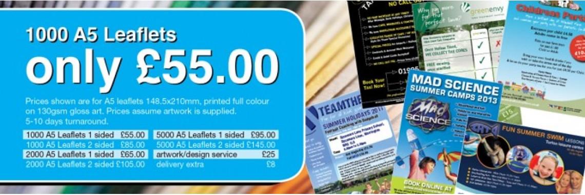 A5 Leaflets Preston