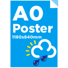 A0 Waterproof/Tearproof Poster