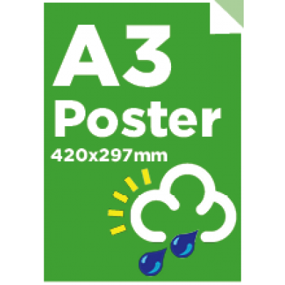 A3 Waterproof/Tearproof Poster